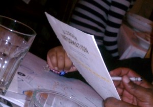 Daughter started reading menus of allergen information during her early years at local restaurants