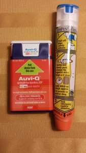 Among epinephrine autoinjectors include Auvi-Q and EpiPen